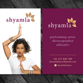 Shyamla Dance - Logo and Business Card